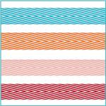 3/4'' Chevron Stripes Twill Tape