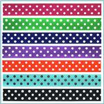 5/8'' Grosgrain Polka Dot Ribbon