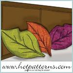Tumbling Leaf Trapunto Pillow Pattern