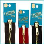 Fashion Brass Zippers