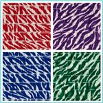 Stretch Ruffle Knit Zebra Fabric
