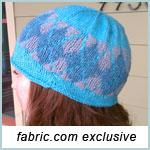 Argyle Cloche Knitting Pattern