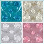 Stunning Sequined Rosette Satin Fabric