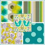 Kokka Trefle Prints Charming Cotton Canvas Fabric