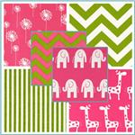 Premier Prints Candy Pink &amp; Chartreuse Collection