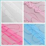 Glitter Curves Tulle Fabric