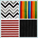 Minky Striped Fabric