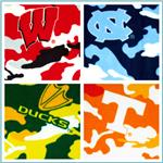 Collegiate Camo Fleece Fabric