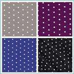 Stretch Bamboo Rayon Jersey Knit Polka Dot Fabric