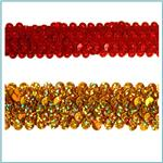 1 1/4'' Stretch Metallic Sequin Trim