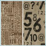 Waverly Script & Numbers Fabric