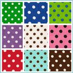 Flannel Polka Dot Fabric
