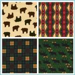 Timeless Treasures Cabin Flannel