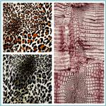 Animal Print Stretch Cotton Sateen Fabric