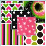 Premier Prints Candy Pink & Black Collection