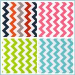 Riley Blake Chevron Laminated Cotton Fabric