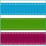 1 1/2'' Stitched Edge Grosgrain Ribbon