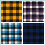 Yarn Dyed Plaid Flannel Fabric