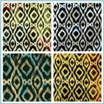 Printed Indian Batik Flannel Ikat