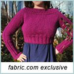 January Cropped Sweater Knitting Pattern