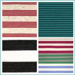 Stretch Yarn Dyed Stripe Jersey Knit Fabric