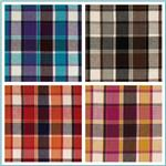 Breezy Crinkled Cotton Gauze Plaid Fabric