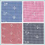 Embroidered Woven Gingham Fabric