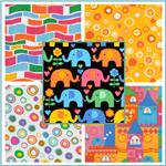 Timeless Treasures Elephants On Parade