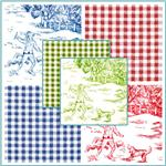 Pastoral Toile &amp; Coordinating Fabrics