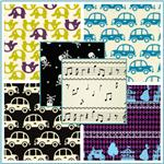 Kokka Trefle Novelty Oxford Cotton Canvas Fabric