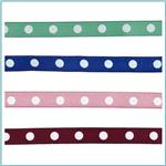 3/8&#39;&#39; Grosgrain Dot Ribbon