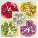 Sequin Flower Brooches