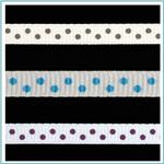 1/4'' Grosgrain Mini Dot Ribbon