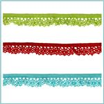 Riley Blake Sew Together 1/2&quot; Elastic Crocheted Lace 