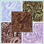 Charmeuse Satin Paisley Fabric