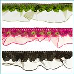 1&quot; Stretch Sequin Organza Ruffle Trim