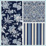 Waverly Barano Indigo Collection