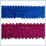 1 1/2'' Stretch Metallic Sequin Trim