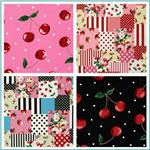 Kokka Trefle Berries Oxford Cotton Canvas Fabric