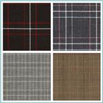 Yarn-Dyed Plaid Suiting Fabric