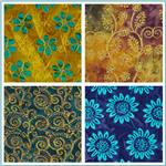 Textile Creations Embroidered Rayon Batik Fabric