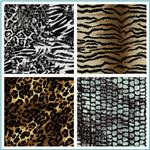 Ponte Roma Knit Animal Print Fabric