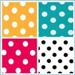 Stretch ITY Polka Dot Knit Fabric