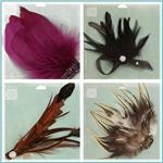 Jeweled Feather Embellishment Brooches