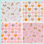 Peace & Love Flannel Fabric