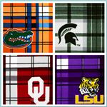 Collegiate Plaid Fleece Fabric