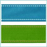 1 1/2'' Saddle Stitch Grosgrain Ribbon