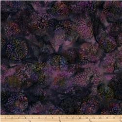 Bali Batiks Handpaints Chrysanthemums Grape