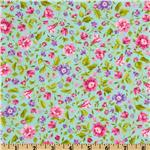 FI-238 Spring Flowers Aqua