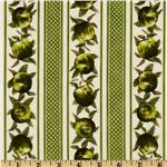 FM-229 Fresh Apples Stripe Green